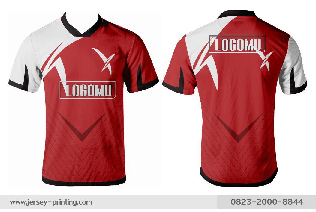 Jersey printing futsal gaming lari badminton panahan mancing (615)