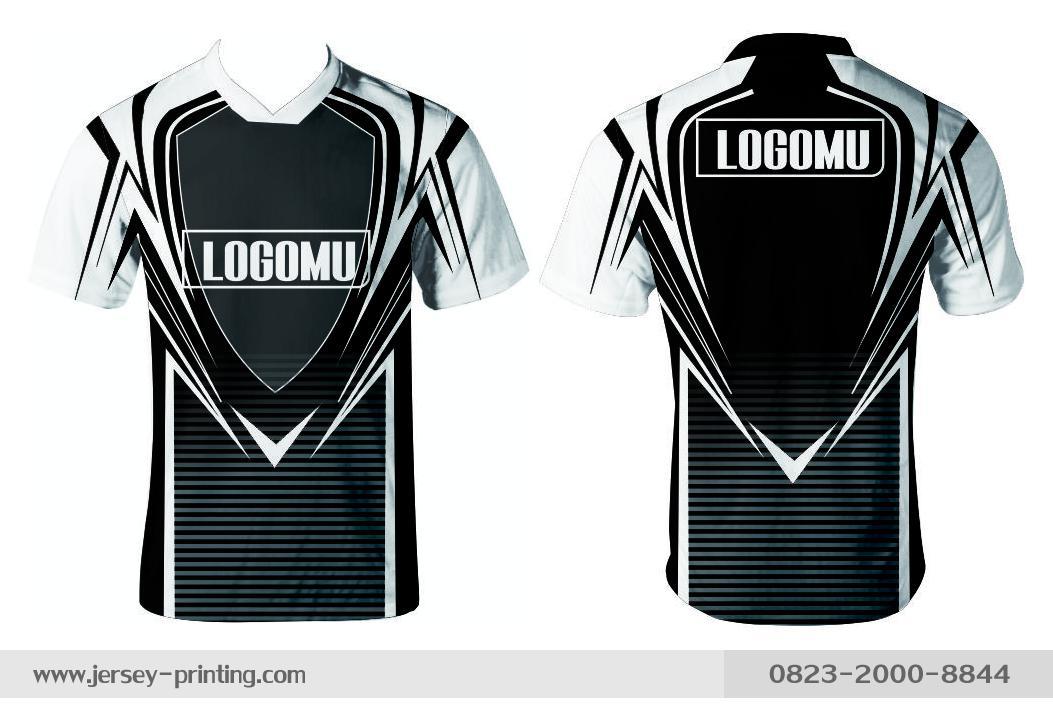 Jersey printing futsal gaming lari badminton panahan mancing (609)