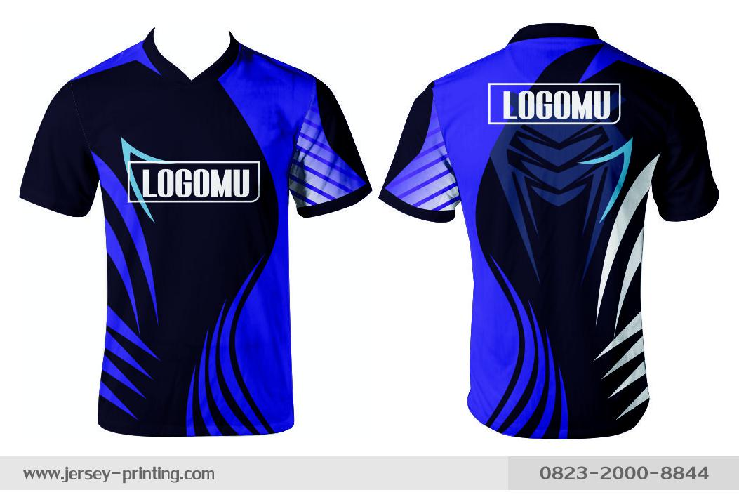 Jersey printing futsal gaming lari badminton panahan mancing (380)