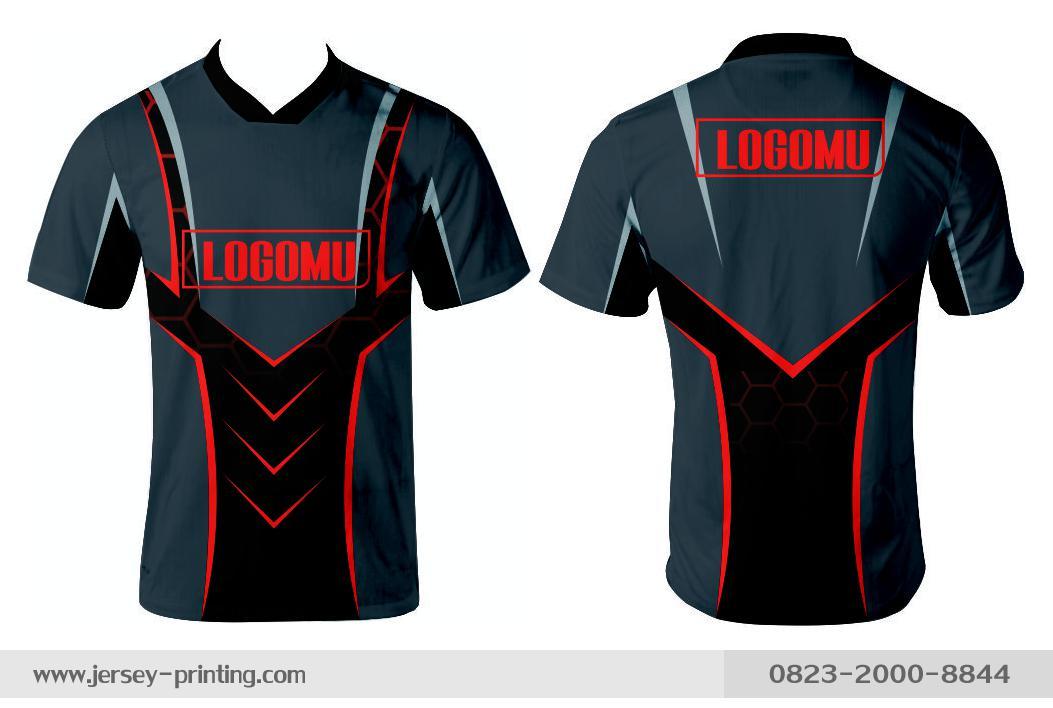 Jersey printing futsal gaming lari badminton panahan mancing (593)