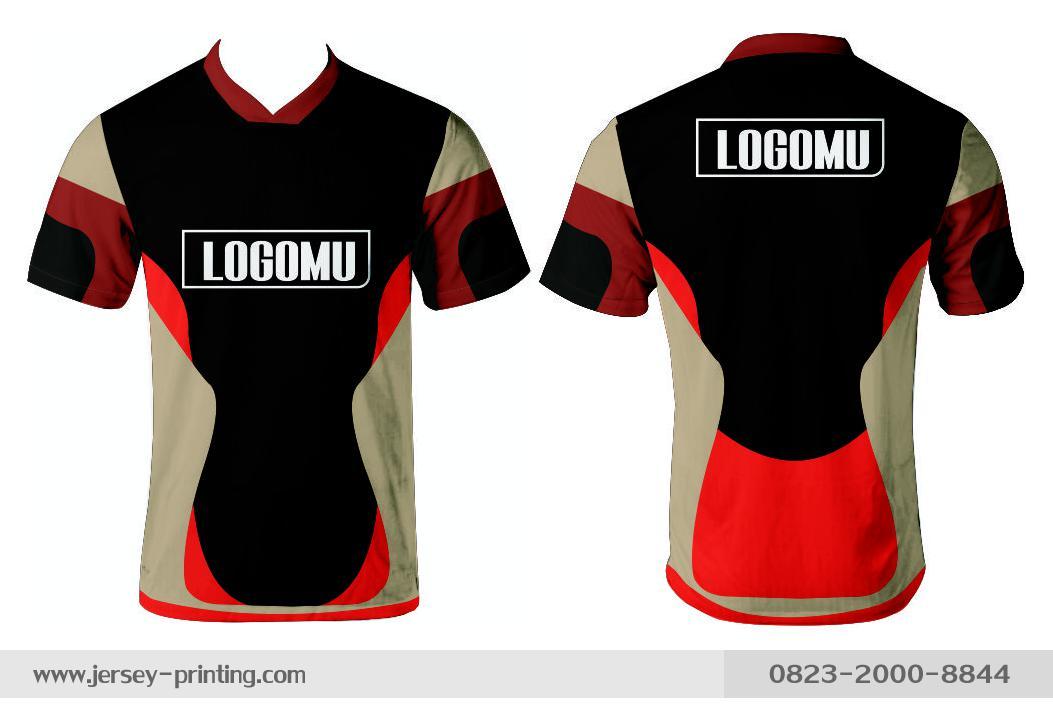 Jersey printing futsal gaming lari badminton panahan mancing (539)