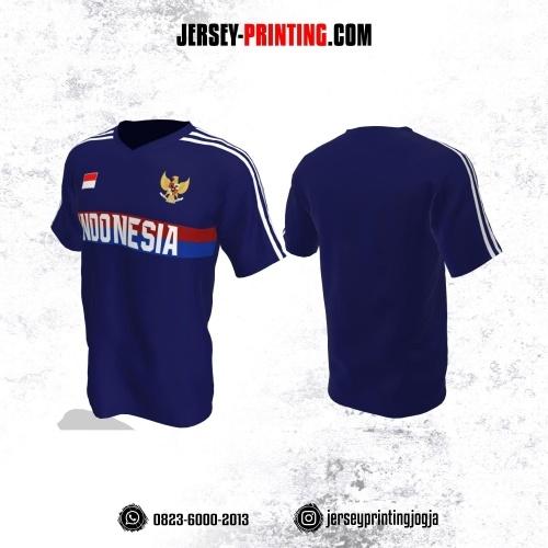 Jersey Futsal Dongker Motif Garis Putih