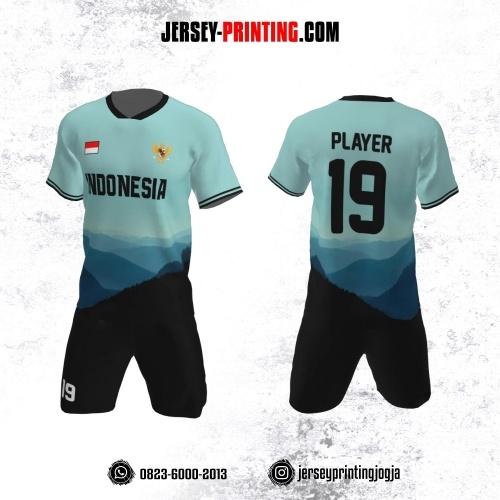 Jersey Futsal Lukisan View Biru