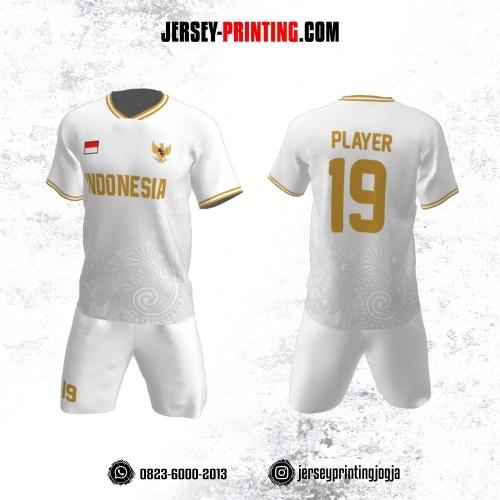Jersey Futsal Motif Batik Abu-abu