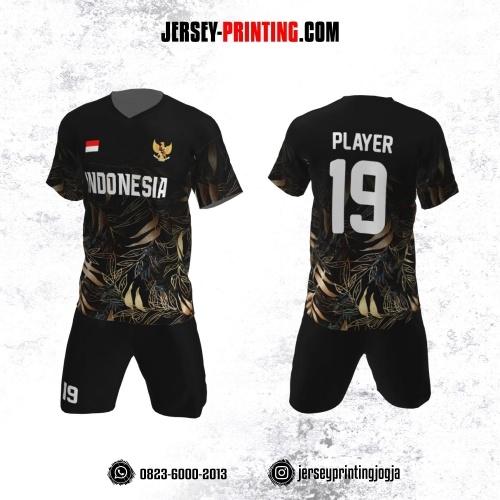 Jersey Futsal Motif Dedaunan Medium Blonde