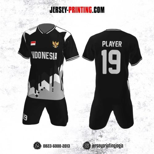 Jersey Futsal Motif Garis Abu-Abu Putih