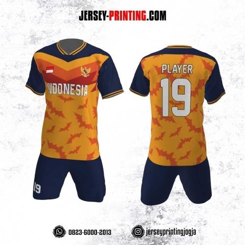 jersey Futsal Motif Kelelawar Orange Kuning
