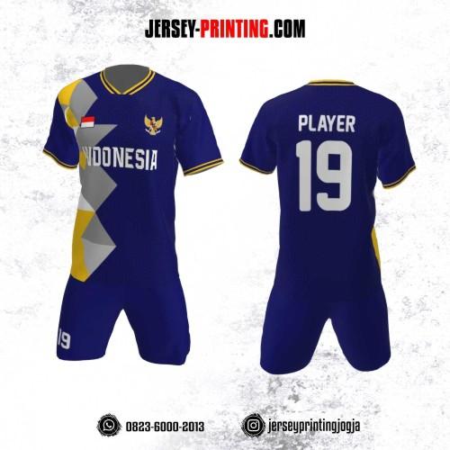 Jersey Futsal Motif Kotak Vector Kuning Abu-Abu