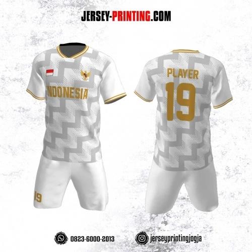 Jersey Futsal Motif Zigzag  Abu-abu Putih
