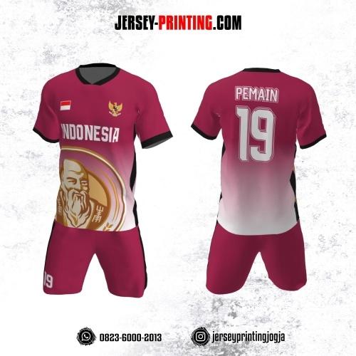 Jersey Futsal Pink Putih Hitam Motif Logo Orangtua