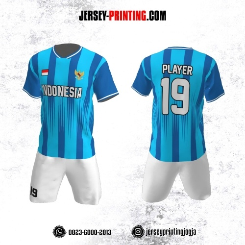 Jersey Futsal Strip Madura Biru