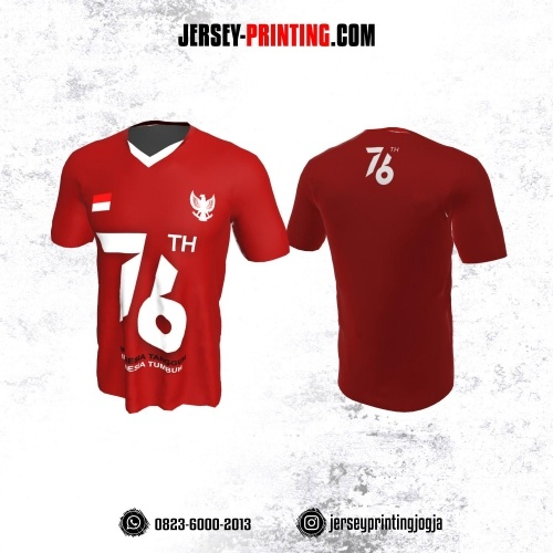 Jersey HUT RI 76 Kemerdekaan Indonesia 17 Agustus Merah Putih