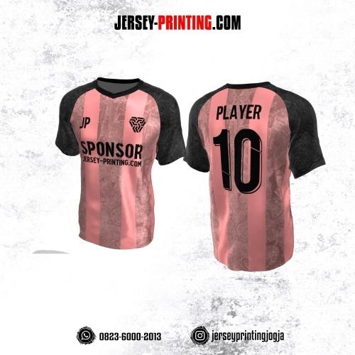 Jersey Atasan Badminton Volly Lari Futsal Pink Abu-abu Motif Perkotaan